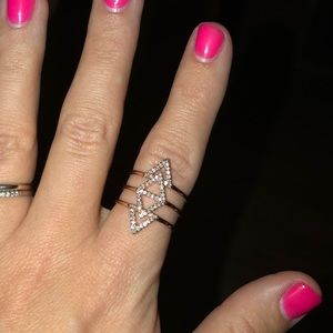 Stella and Dot adjustable pave ring